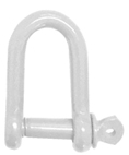 White Epoxy Coated Steel Dee Shackles